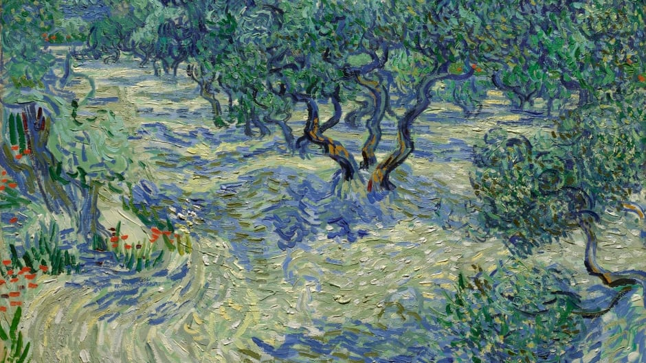 Vincent van Gogh's painting, Olive Trees.