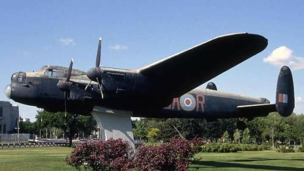Toronto's Avro Lancaster bomber was displayed along the waterfront from 1966 to 1999.