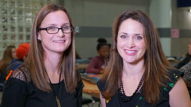 Math teacher Jenni Van Kestren and art teacher Laura Briscoe are shaking up the way kids learn math by combining it with art.