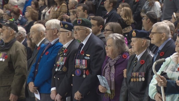 The Remembrance Day service at Harbour Station has lacked participants from conflicts that happened after the Second World War and the Korean War.