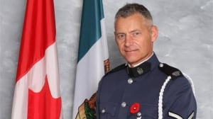 Procession begins for Const. John Davidson's celebration in Abbotsford, B.C., today