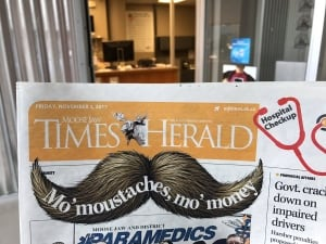 Moose Jaw Times-Herald front page