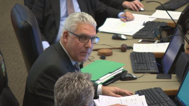 Winnipeg chief administrative officer Doug McNeil addresses council's public works committee on Oct. 31. The Winnipeg Association of Public Service Officers has filed a respectful workplace complaint against the city for statements made about city staff at that meeting.