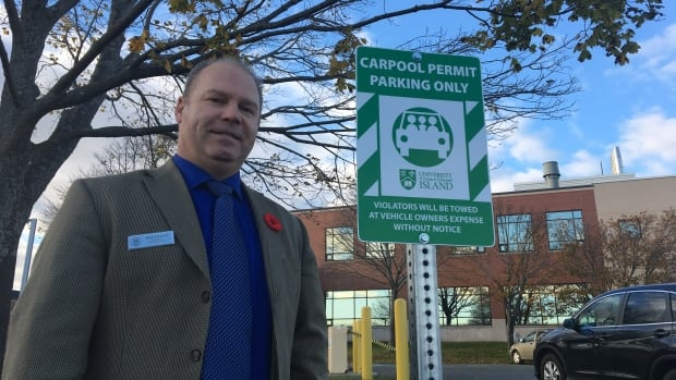 Mark Pharand, UPEI's security services manager, says the carpool program will help students and staff save money and be a little more eco-friendly.