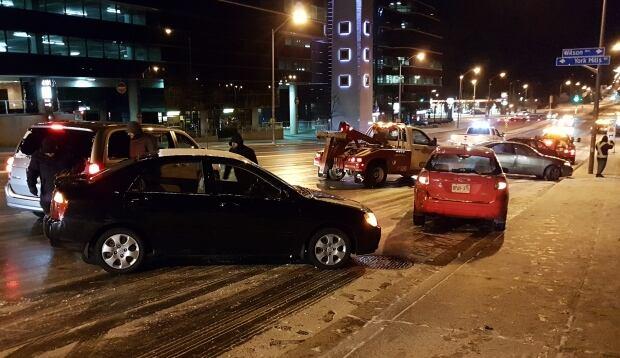 Icy roads Toronto