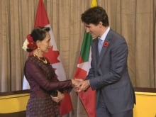 Canad's Special Envoy to Myanmar Bob Rae advised Prime Minister Trudeau before his meeting with Myanmar's leader Aung San Suu Kyi in Vietnam on Friday. He describes her as a 'very extremely disciplined woman.'