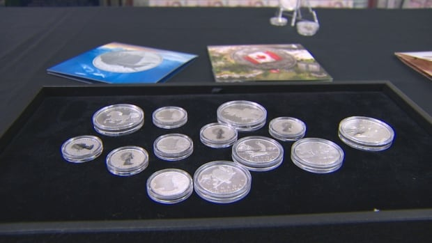 Mint Face Value Coin display