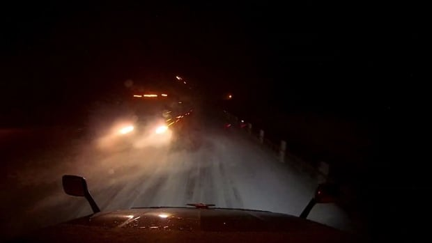 Trucker Paul Beauregard captured footage of another truck swerving into his lane and hitting him on Highway 11 near Kapuskasing.