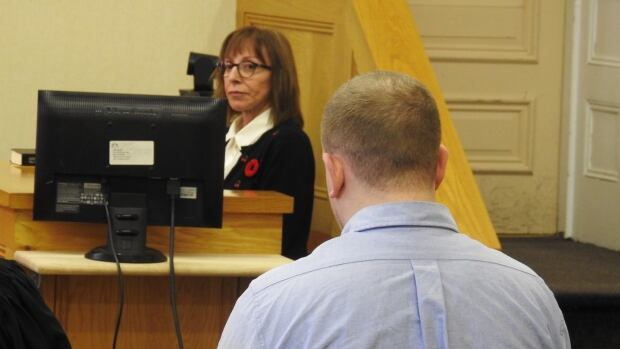 Linda McBay takes the stand at Brandon Phillips first-degree murder trial at Newfoundland and Labrador Supreme Court Friday.