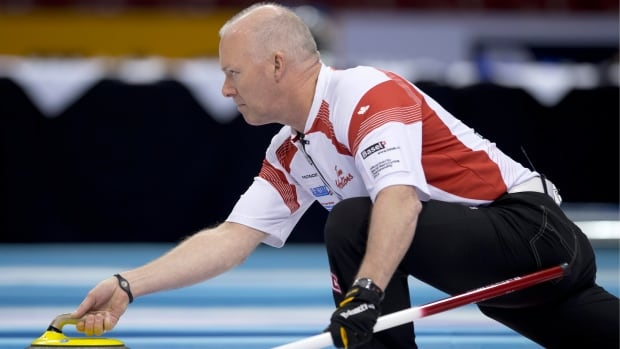 Glenn Howard, seen at a previous event, earned a 7-6 win over Adam Casey at the Road to the Roar Olympic curling pre-trials in Summerside, P.E.I. on Friday.
