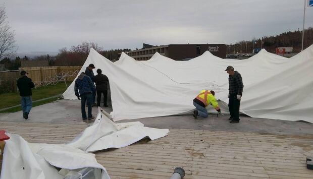 Clarenville Market Tent Removal