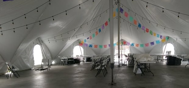 Inside Clarenville Market Tent
