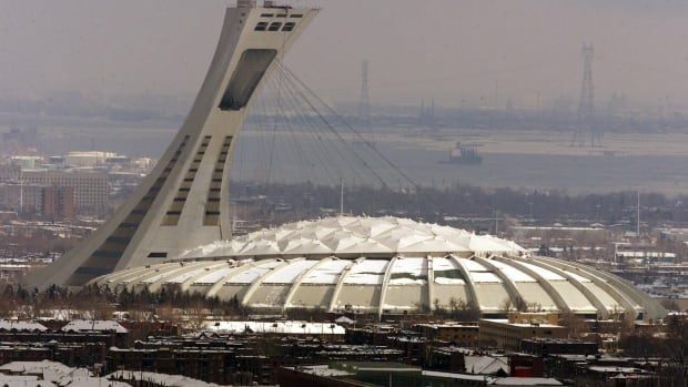 Montreal's Olympic Stadium, seen here from Mount Royal, is getting a new $250-million roof.