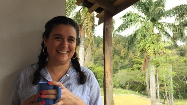 Maria Fiallos at her family's farm in Nicaragua. She says 'ridiculously low' coffee prices are hurting growers in her home country.
