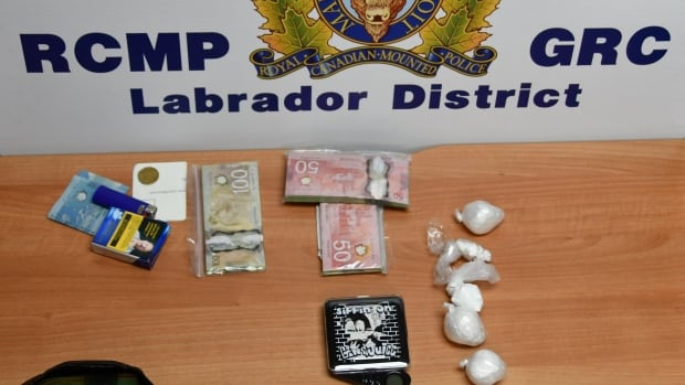 Labrador police seized over 100 grams of cocaine, trafficking paraphernalia and cash.