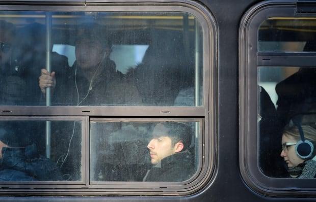 Toronto King Street streetcar passengers