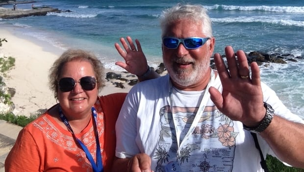Joan and Rick Huges WestJet cruise San Juan