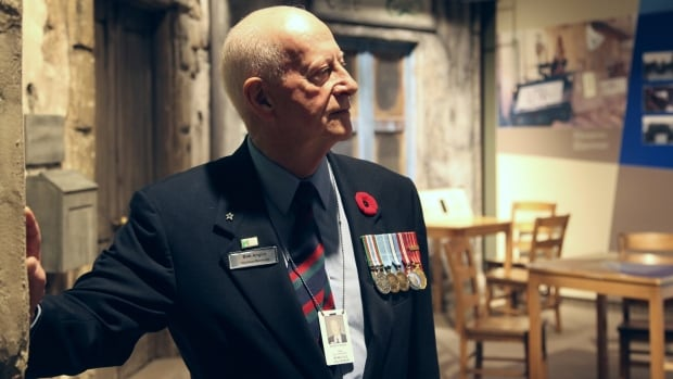 Bob Anglin, who served with UN peacekeeping forces in Cyprus in 1967, takes in the view of the War Museum's Cypriot cafe exhibit.