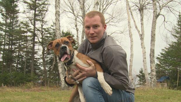 Clinton White and his dog Dutchess - Belfast - 10/11/17