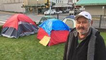 Cliff Russ homeless camp Prince Rupert