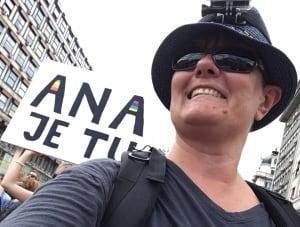 Heidy Enka at Belgrade Pride Serbia Sept. 2017