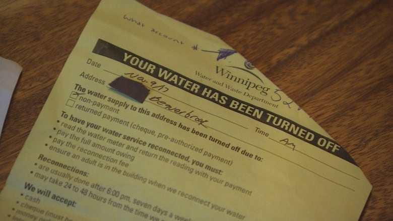Institutional madness': Winnipeg woman's water turned off over