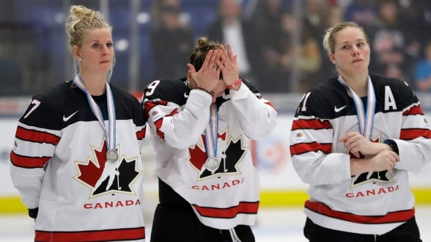 Bailey Bram, left, is hoping to be a part of Team Canada at the PyeongChang Olympics and get the chance to avenge their loss to Team USA at this year's world championships.
