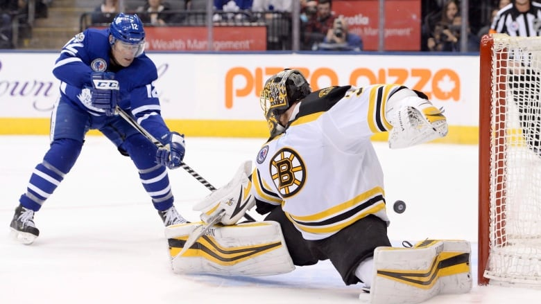 626102931b9 Patrick Marleau scores the OT winner on Anton Khudobin to give the Toronto  Maple Leafs a 3-2 victory over the Boston Bruins on Friday.