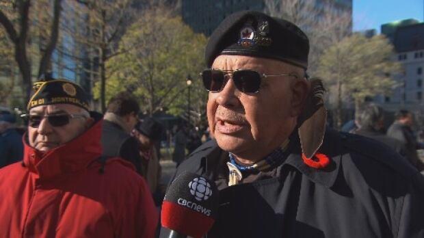 Eugene Montour Remembrance Day Veteran