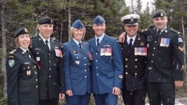 Six serving military members returned to their tiny home town of Lodge Bay, Labrador for a special Remembrance Day ceremony.