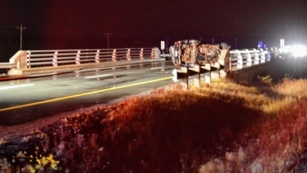 At least one vehicle was involved in a serious accident on the TCH near Makinsons sometime before 1 a.m. Saturday.