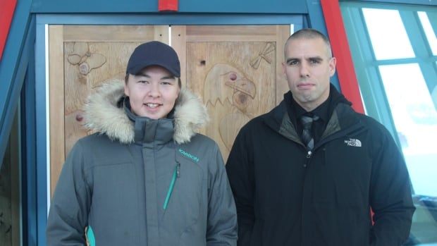 RCMP Const. Chris Whynot (right) and 17-year-old Jacob Klengenberg (left) hail from the Northwest Territories.
