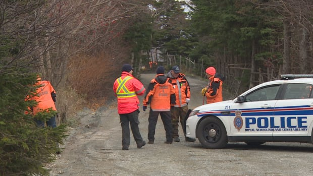 Members of the Rovers search and rescue team worked with the RNC on Saturday in a search for evidence related to a woman's body found near Mount Scio Road.