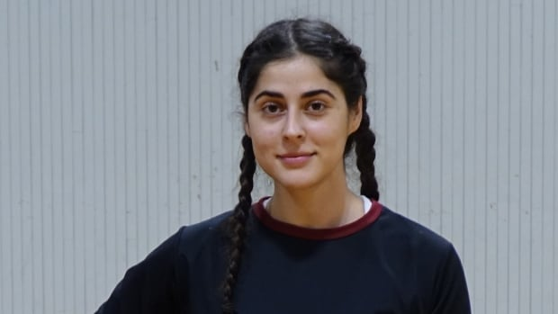 Thawrih founder Sarah Abood, 22, sports some of her new active wear that she says is both culturally appropriate and comfortable for people with cultural and religious restrictions to wear.