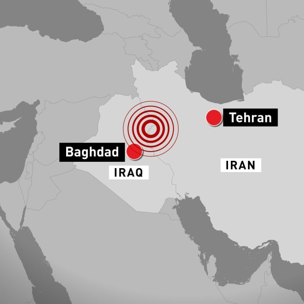 CBC Iran Iraq earthquake map November 13 2017