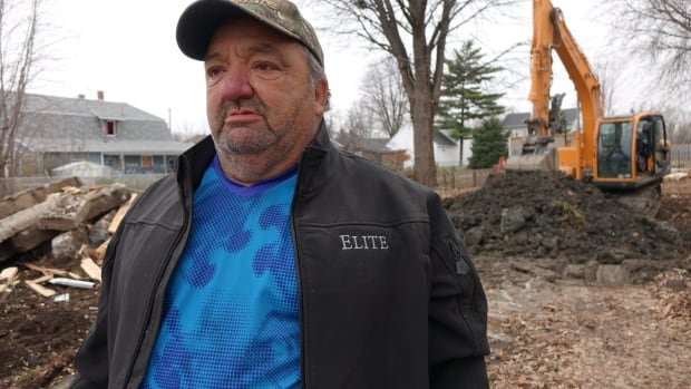 Marcel Theriault tore down the house his father built, but doesn't expect to rebuild. He said provincial benefits are unlikely to cover the costs of rebuilding in a way that meets the rules for a flood zone.