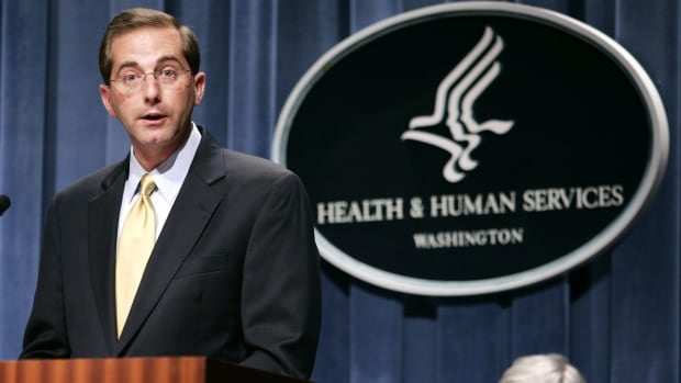This file photo from June 2006 shows Alex Azar when he was deputy health and human services secretary during the George W. Bush administration. He then went on to become the head of pharmaceutical giant Eli Lilly.