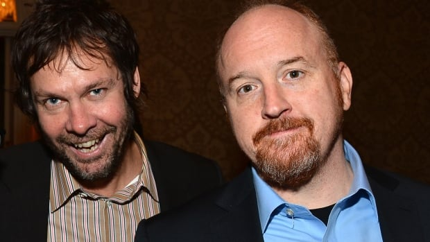 Dave Becky, left, said Monday 'what I did was wrong, and again, I am extremely sorry,' after comedian Louis C.K. admitted on Friday the stories were true.