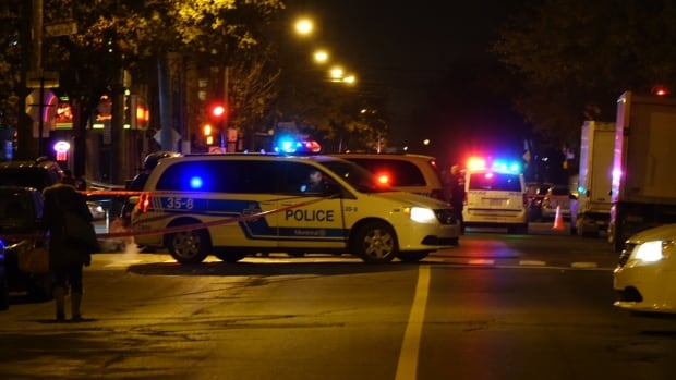 A 28-year-old man was struck once as he was walking on Saint-Zotique street, when a suspect approached fired several shots.