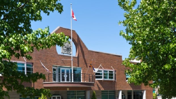 The city hall of Maple Ridge, a municipality in Metro Vancouver with a population of approximately 82,000 people.