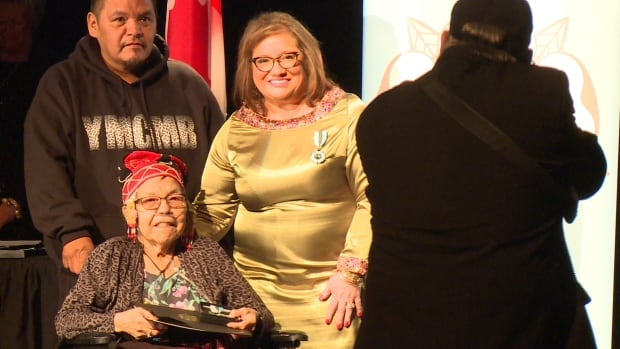 Sheshatshiu's Angela Andrew received the Labradorian of Distinction award for continuing the tradition of making Innu tea dolls.