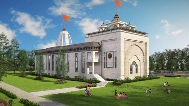 An artist's rendering of the proposed Hindu temple in Fort McMurray.