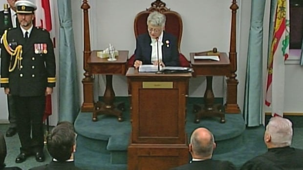 New Lieutenant-Governor Antoinette Perry reads her first speech from the throne.