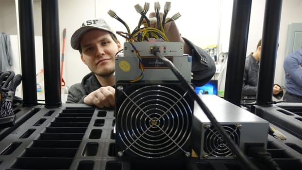 Jonathan Bertrand, president of Technologies D-Central, runs a bitcoin mine in the suburbs of Montreal.