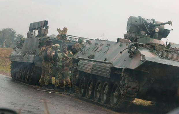 Zimbabwean commander says military will step in to protect revolution