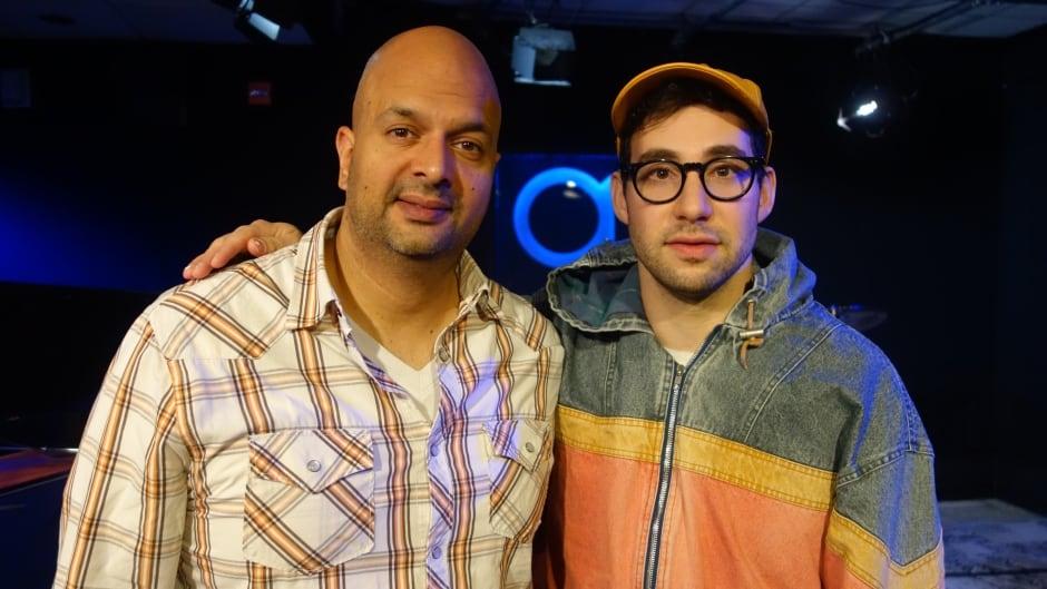 Bleachers' Jack Antonoff with Ali Hassan in the q studio in Toronto, Ont.