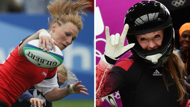 Multi-sport star Heather Moyse won a pair of Olympic bobsleigh gold medals and also played for the Canadian women's rugby team.