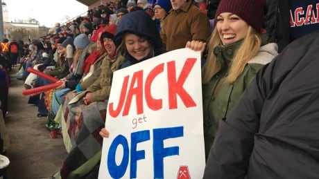 acadia protest sign