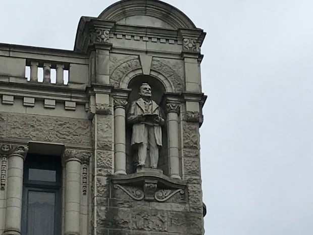 One of the Statues on the B.C. Parliament Buildings