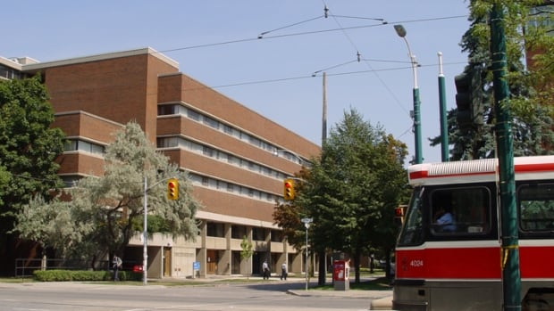 Wilson Hall, seen here, and Wetmore Hall were evacuated in response to a Toronto police investigation of a 'suspicious' object. Police gave the all-clear just before 5:30 p.m.